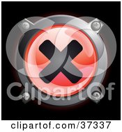 Clipart Illustration Of A Shiny Red X Button Icon