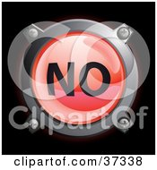 Clipart Illustration Of A Shiny Red No Button Icon