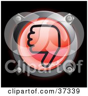 Clipart Illustration Of A Shiny Red Thumbs Down Button Icon