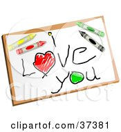 Clipart Illustration Of A Childs I Love You Drawing by Prawny
