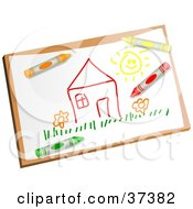 Clipart Illustration Of A Childs Drawing Of A House by Prawny