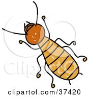 Clipart Illustration Of A Brown Termite by Prawny