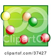 Clipart Illustration Of Colorful Snooker Balls