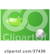 Clipart Illustration Of A Golf Ball Near The Hole On The Green by Prawny