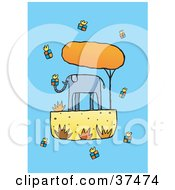 Clipart Illustration Of A Giving Elephant Surrounded By Gifts