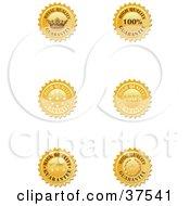 Six Golden High Quality Guarantee Seals