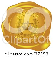 Clipart Illustration Of A Golden Shiny Luxury Product Wax Seal