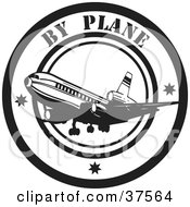 Black And White By Plane Delivery Seal