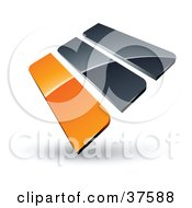 Clipart Illustration Of A Pre Made Logo Of Orange And Gray Bars