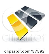 Clipart Illustration Of A Pre Made Logo Of Yellow And Gray Bars
