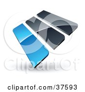 Clipart Illustration Of A Pre Made Logo Of Blue And Gray Bars by beboy