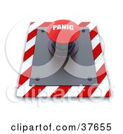 Clipart Illustration Of A Red Panic Push Button On A Control Panel