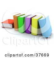 Clipart Illustration Of Thick Colorful School Books