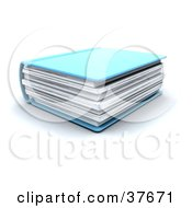 Clipart Illustration Of A Thick Blue Text Book