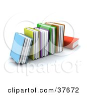 Clipart Illustration Of A Row Of Colorful Thick Text Books by KJ Pargeter