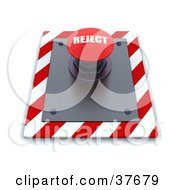 Clipart Illustration Of A Red Reject Push Button On A Control Panel by KJ Pargeter