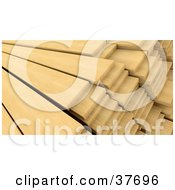 Clipart Illustration Of A Wooden Planks In Stacks