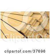 Wooden Planks In Stacks