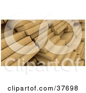 Clipart Illustration Of A Background Of Wooden Planks
