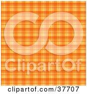 Clipart Illustration Of An Orange Plaid Background