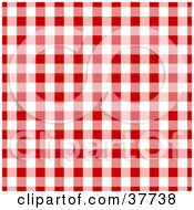 Clipart Illustration Of A Red And White Gingham Background