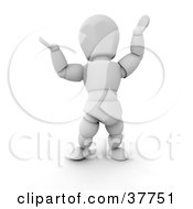 3d White Character Holding His Arms Up While Shrugging Or Presenting Something by KJ Pargeter