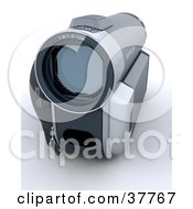 Clipart Illustration Of A Compact Gray Handy Cam by KJ Pargeter