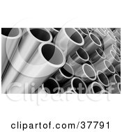 Clipart Illustration Of A Closeup Of Steel Construction Pipes by KJ Pargeter