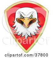 Clipart Illustration Of An Eagle Head And Gold Trim