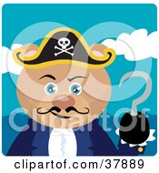 Clipart Illustration Of A Teddy Bear Pirate Captain With A Hook Hand