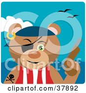 Clipart Illustration Of A Tough Bear Pirate With A Pistil And Eye Patch