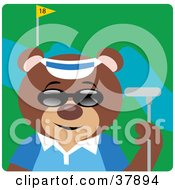 Clipart Illustration Of A Cool Bear Wearing Shades And Golfing