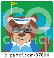 Cool Bear Wearing Shades And Golfing