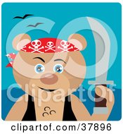 Clipart Illustration Of A Teddy Bear Pirate With A Sword