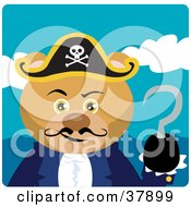 Clipart Illustration Of A Hook Handed Teddy Bear Pirate Captain