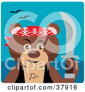 Clipart Illustration Of A Pirate Bear With A Sword