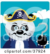 Clipart Illustration Of A Panda Bear Pirate Captain With A Hook Hand