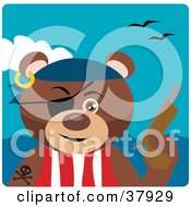 Pirate Teddy Bear Wearing An Eye Patch And Holding A Pistil