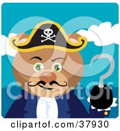 Clipart Illustration Of A Captain Hook Pirate Bear