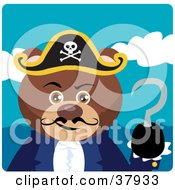 Clipart Illustration Of A Pirate Captain Bear With A Hook Hand