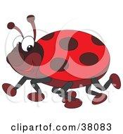 Clipart Illustration Of A Happy Ladybug by Alex Bannykh