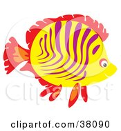 Clipart Illustration Of A Red Purple And Yellow Marine Fish