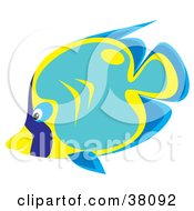 Clipart Illustration Of A Blue Teal And Yellow Fish