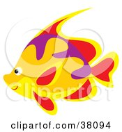 Clipart Illustration Of A Yellow Red Purple And Orange Marine Fish
