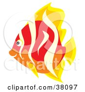 Clipart Illustration Of A Yellow Beige Red And Orange Fish