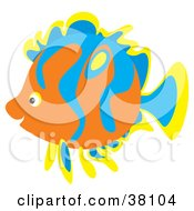 Clipart Illustration Of A Yellow Blue And Orange Saltwater Fish