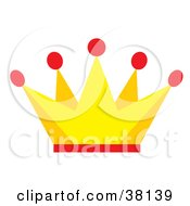 Clipart Illustration Of A Yellow And Red Kings Crown