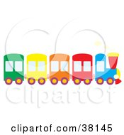 Clipart Illustration Of A Colorful Train