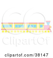 Clipart Illustration Of A Pink And Yellow Train