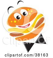 Clipart Illustration Of A Happy Cheeseburger Character